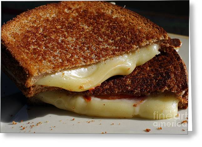 Grilled Cheese Greeting Card by Denise Pohl