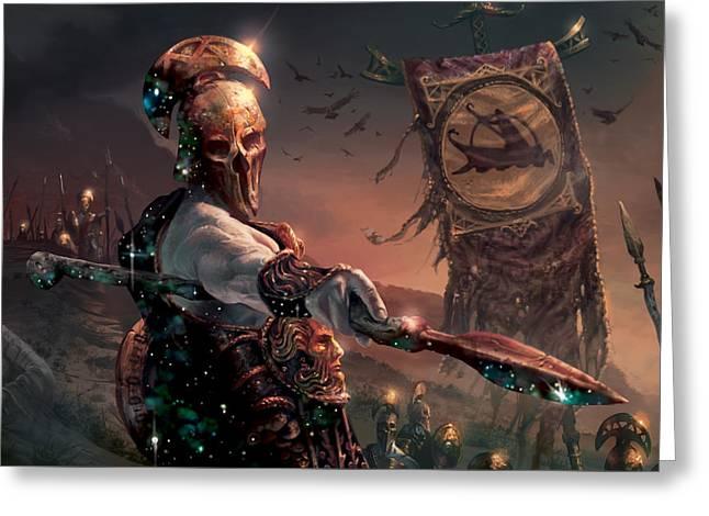Grim Guardian Greeting Card