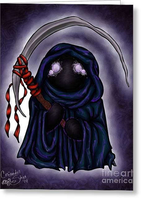 Grim Reapie Greeting Card by Coriander  Shea