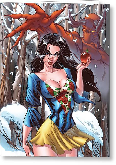 Grimm Fairy Tales 41a Sela Mathers Greeting Card by Zenescope Entertainment