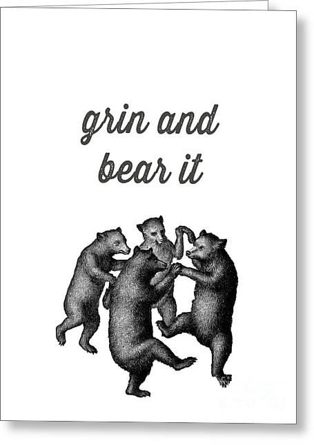 Grin And Bear It Alaska Wildlife Greeting Card by Edward Fielding