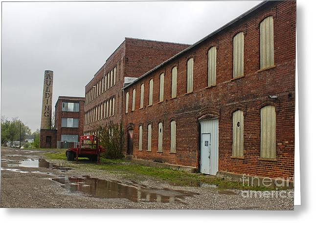 Grinnell Iowa - Aulding Building - 02 Greeting Card by Gregory Dyer