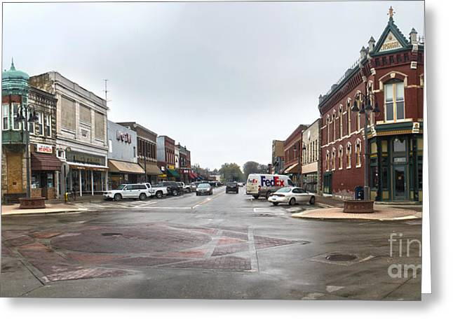 Grinnell Iowa - Downtown - 05 Greeting Card