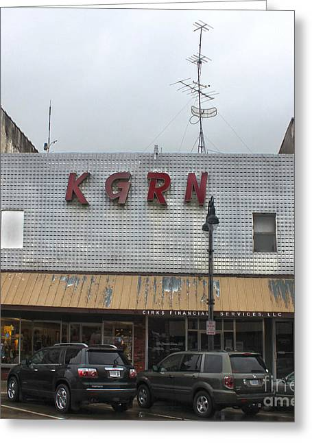Grinnell Iowa - Kgrn Radio Station Greeting Card by Gregory Dyer