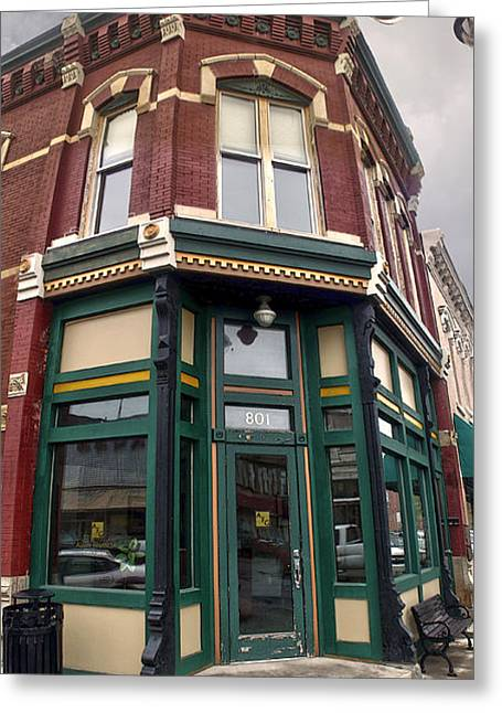 Grinnell Iowa - Downtown - 02 Greeting Card by Gregory Dyer