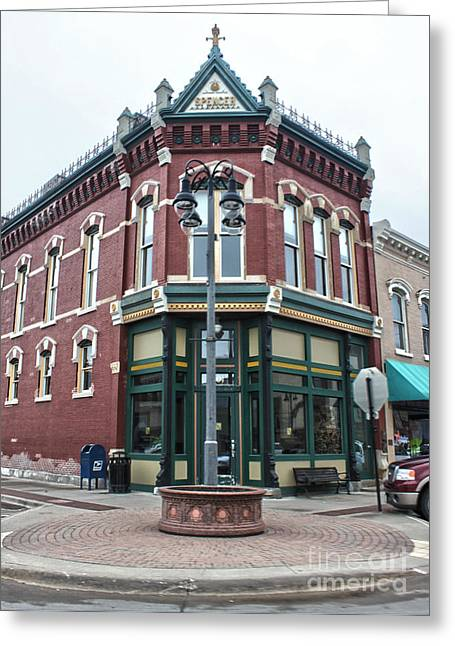 Grinnell Iowa - Downtown - 03 Greeting Card by Gregory Dyer