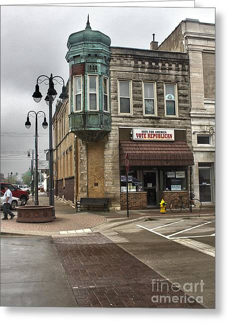 Grinnell Iowa - Downtown - 04 Greeting Card by Gregory Dyer