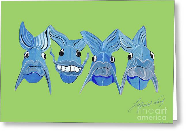 Grinning Fish Greeting Card
