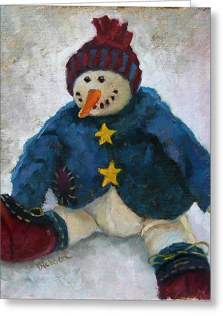 Grinning Snowman Greeting Card