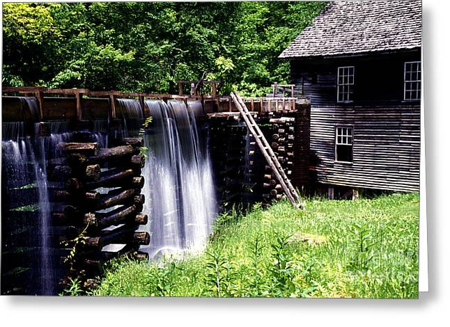 Grist Mill And Water Trough Greeting Card by Paul W Faust -  Impressions of Light