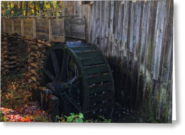 Grist Mill Cades Cove Greeting Card by Dan Sproul