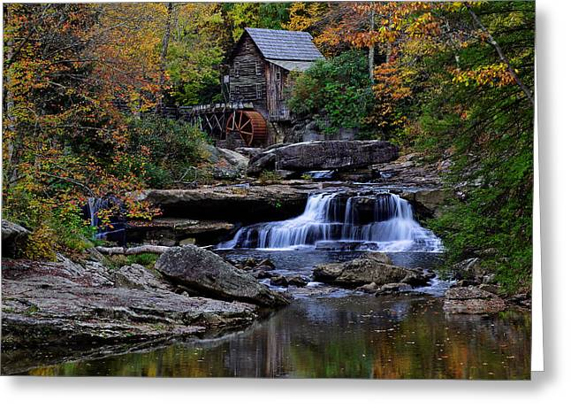 Grist Mill Falls Greeting Card by Lone Dakota Photography