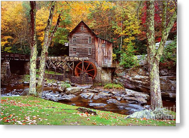 Grist Mill In Babcock St. Park Greeting Card