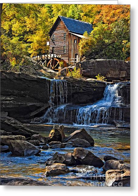 Grist Mill In Babcock State Park West Virginia Greeting Card