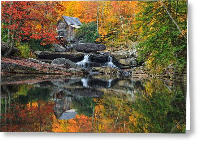 Grist Mill In The Fall Greeting Card
