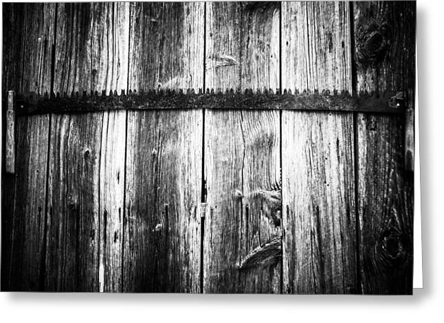 Grit Determination And Hard Work Bw Carpenter Greeting Card by Parker Cunningham