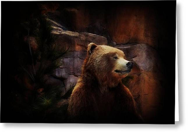 Grizzle Bear Greeting Card by Michelle Frizzell-Thompson