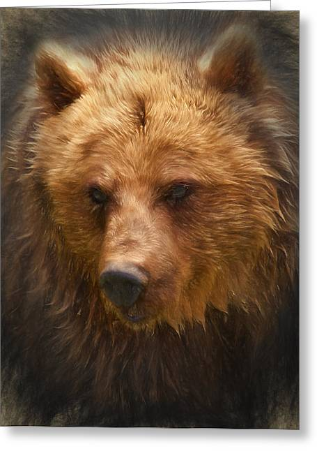 Grizzly Bear Greeting Card by Ian Merton
