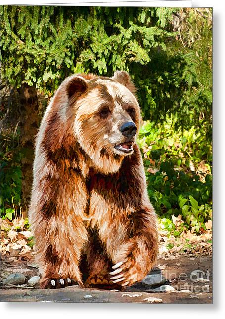 Grizzly Bear - Painterly Greeting Card
