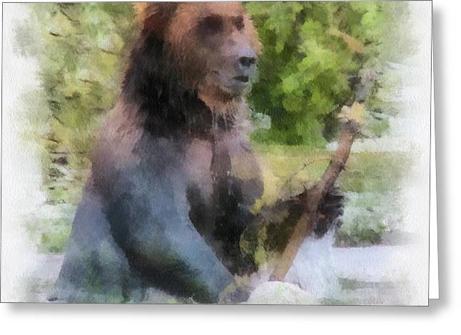 Grizzly Bear Photo Art 01 Greeting Card