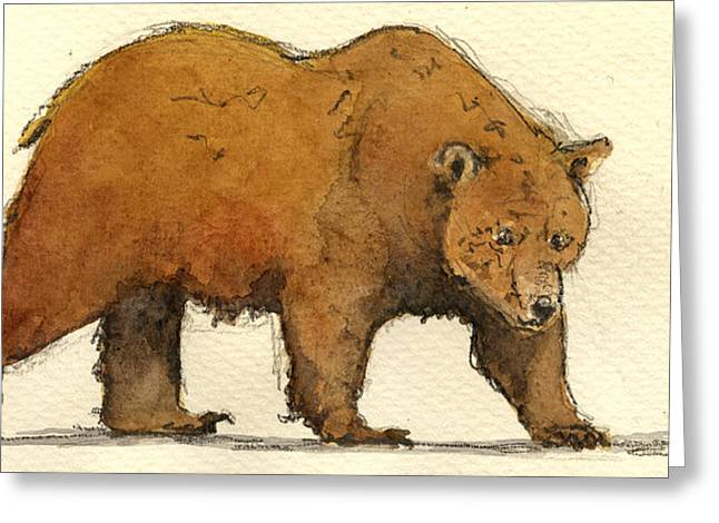 Grizzly Brown Big Bear Greeting Card