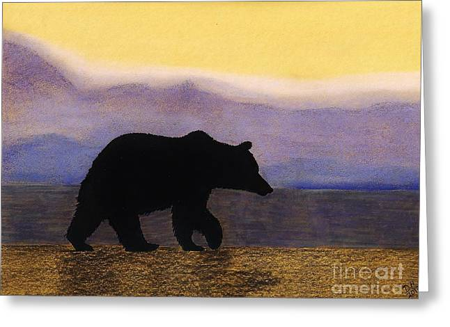Grizzly By The Water Greeting Card