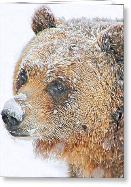 Grizzly Frost Greeting Card