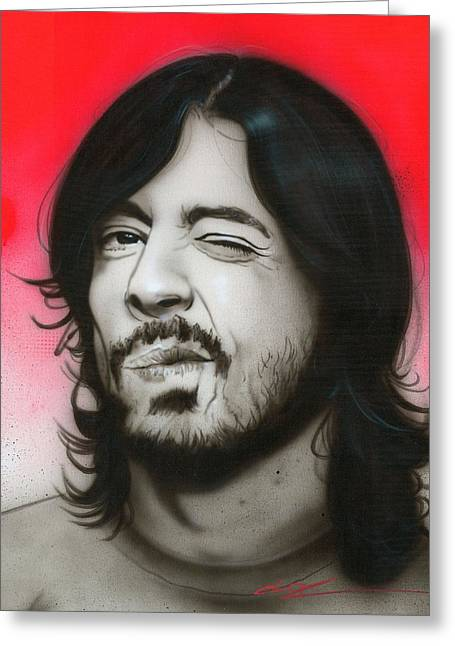 Dave Grohl - ' Grohl IIi ' Greeting Card by Christian Chapman Art