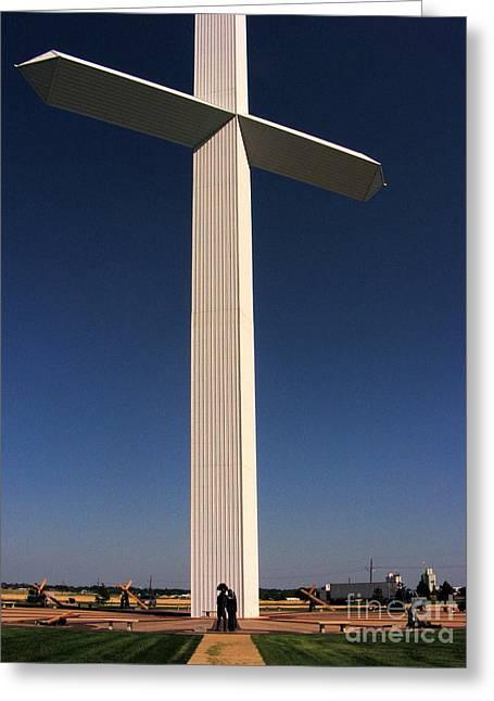 Groom Texas Cross II Greeting Card by Marilyn Smith