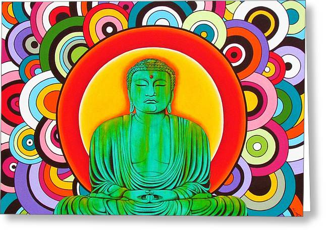 Groovy Buddha Greeting Card by Joseph Sonday