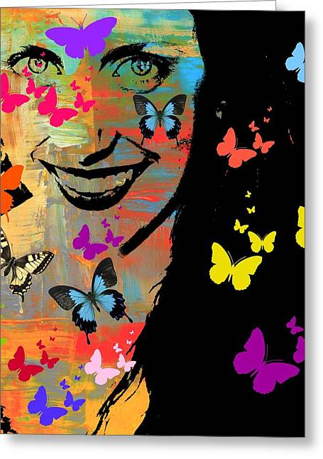 Groovy Butterfly Gal Greeting Card
