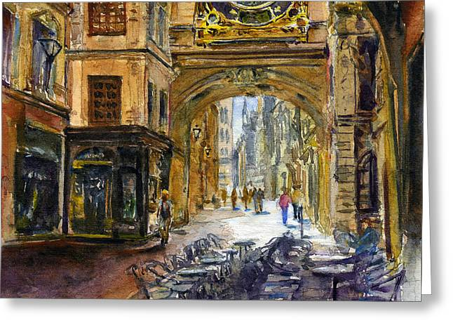 Gros Horlaoge Rouen France Greeting Card