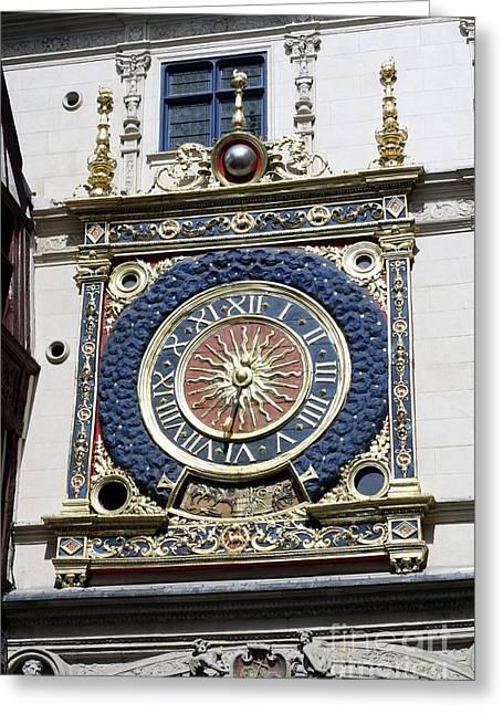Gros Horloge Astronomical Clock Greeting Card