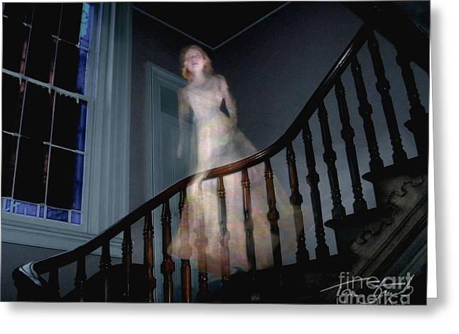 Grosvenor Ghost Greeting Card by Tom Straub