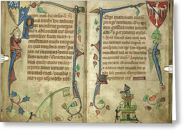 Grotesquesfrom Book Of Hours Greeting Card by British Library