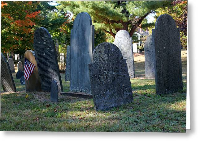 Groton Cemetery 3 Greeting Card by Mary Bedy