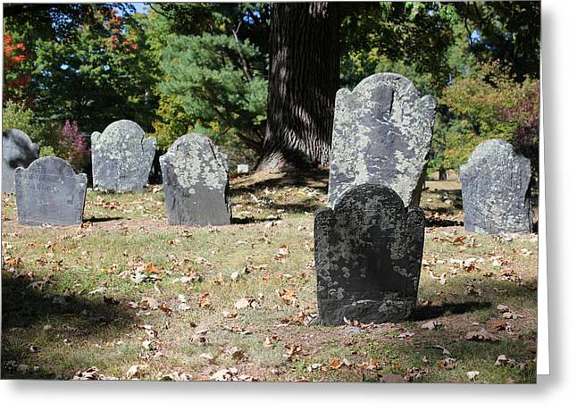 Groton Cemetery 5 Greeting Card by Mary Bedy