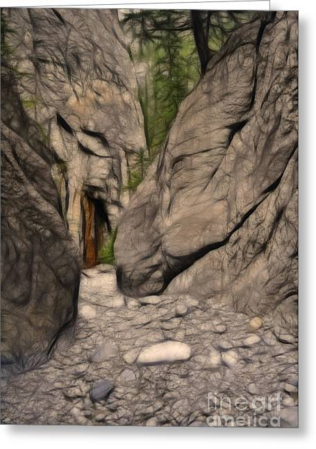 Grotto Canyon Fractal Greeting Card
