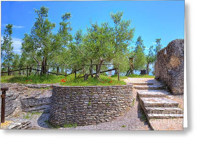 Grotto Catullus At The Lake Garda In Sirmione Greeting Card by Regina Koch