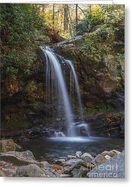 Grotto Falls I Greeting Card