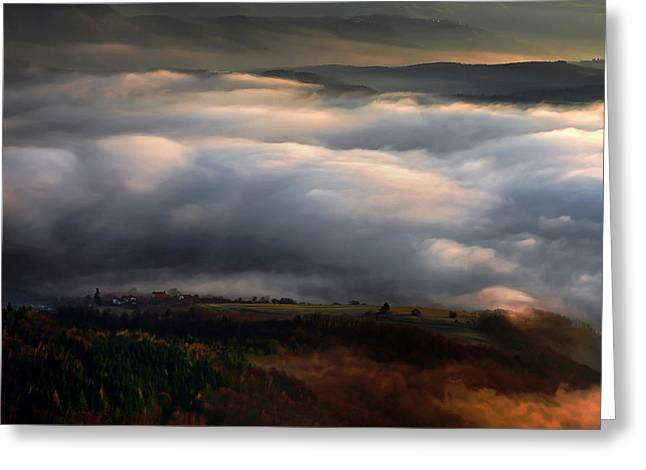 Ground Clouds Greeting Card by Graham Hawcroft pixsellpix