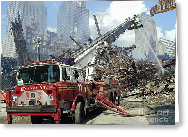 Greeting Card featuring the photograph Ground Zero-1 by Steven Spak