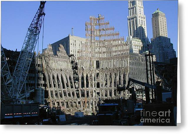 Greeting Card featuring the photograph Ground Zero-2 by Steven Spak