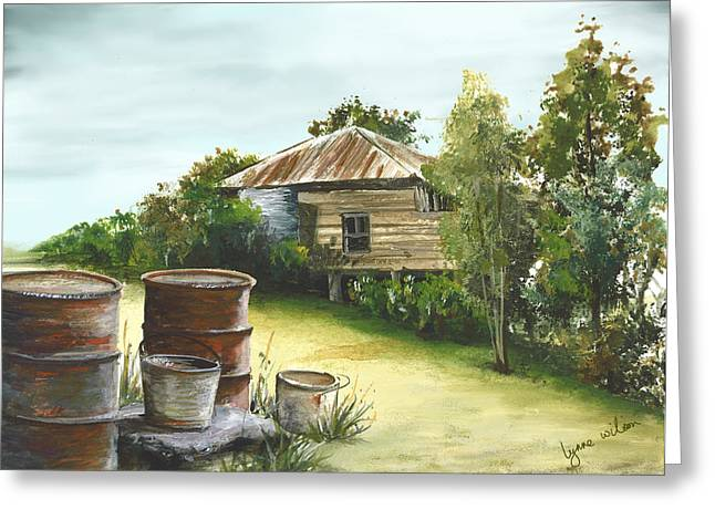 Groundwater Residence Of Days Gone By Greeting Card by Lynne Wilson