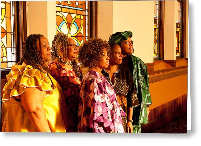 Group Of African Woman Performers Greeting Card