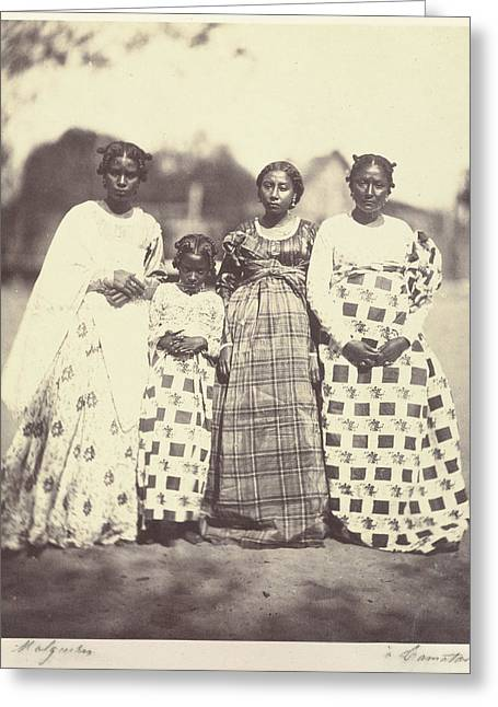 Group Of Betsimisaraka Women Désiré Charnay Greeting Card by Litz Collection