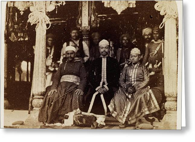 Group Of Nobles Of Hyderabad Greeting Card