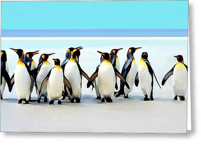 Group Of Penguins Greeting Card