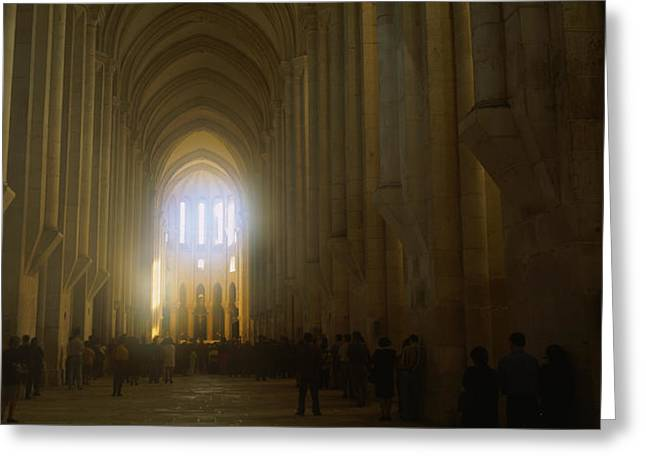 Group Of People In The Hallway Greeting Card by Panoramic Images