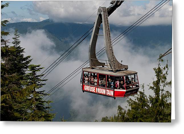 Grouse Mountain Skyride Greeting Card by James Wheeler